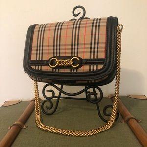 Burberry 1983 Check Link bag with Black Trim